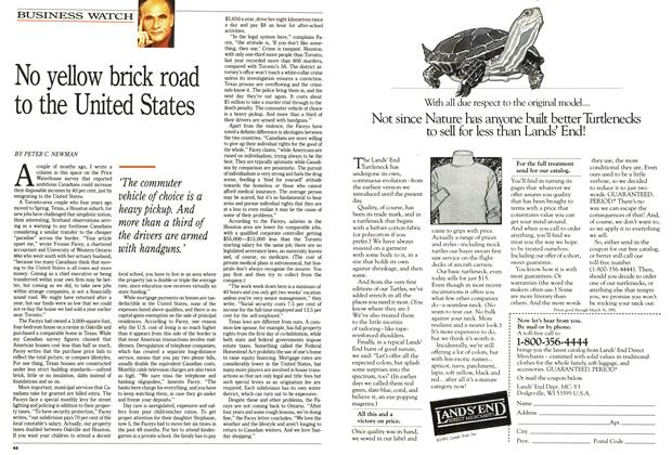 Article Preview: No yellow brick road to the United States, October 1991 | Maclean's