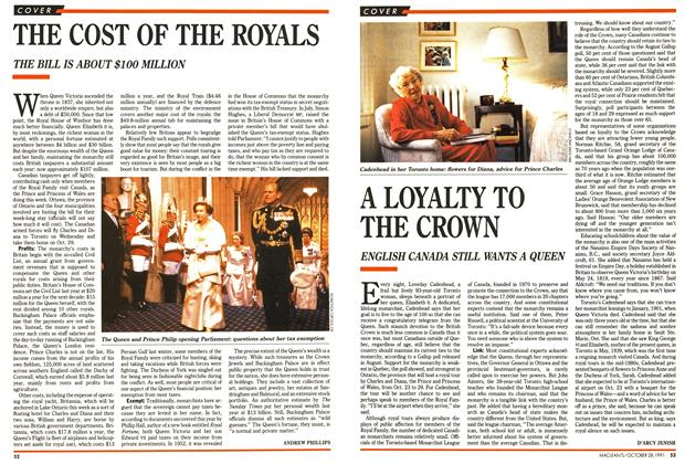 Article Preview: A LOYALTY TO THE CROWN, October 1991 | Maclean's