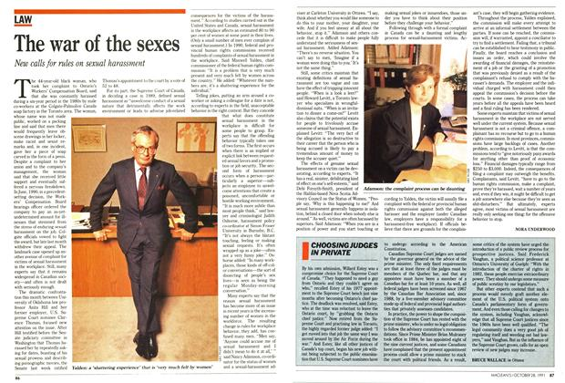 Article Preview: CHOOSING JUDGES IN PRIVATE, October 1991 | Maclean's
