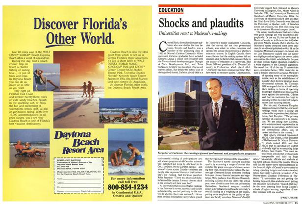 Article Preview: Shocks and plaudits, October 1991 | Maclean's