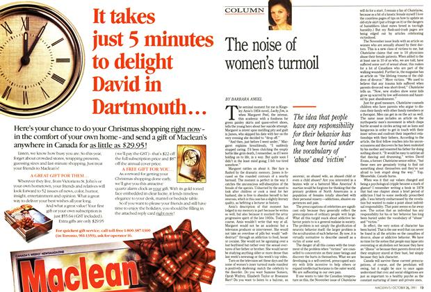 Article Preview: The noise of women's turmoil, October 1991 | Maclean's