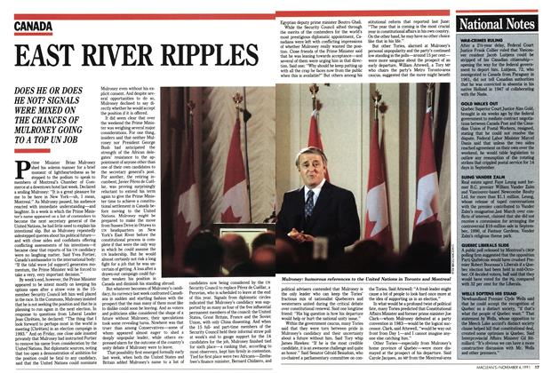 Article Preview: EAST RIVER RIPPLES, November 1991 | Maclean's