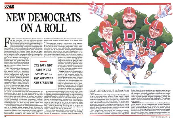 Article Preview: NEW DEMOCRATS ON A ROLL, November 1991 | Maclean's