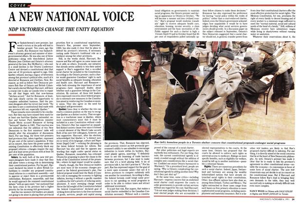Article Preview: A NEW NATIONAL VOICE, November 1991 | Maclean's