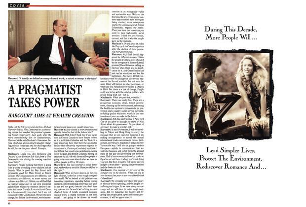 Article Preview: A PRAGMATIST TAKES POWER, November 1991 | Maclean's