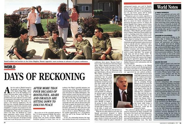 Article Preview: DAYS OF RECKONING, November 1991 | Maclean's