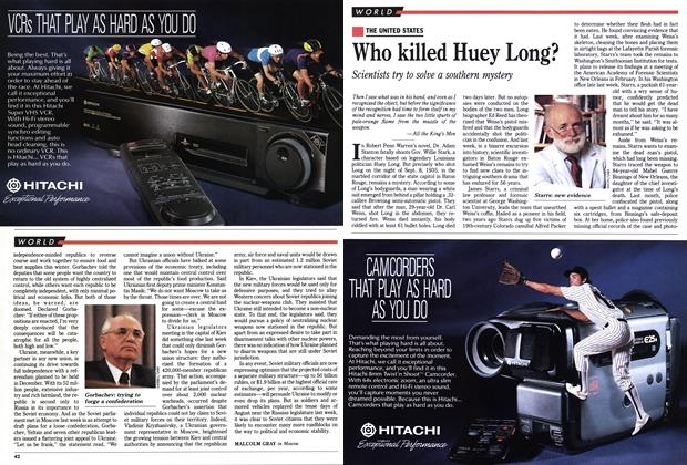 Article Preview: Who killed Huey Long?, November 1991 | Maclean's