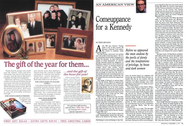 Article Preview: Comeuppance for a Kennedy, November 1991 | Maclean's