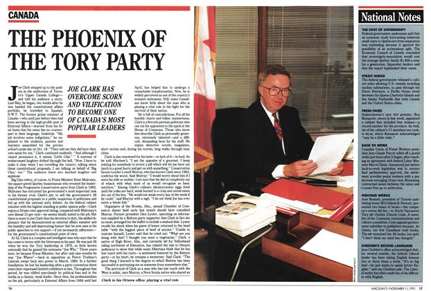 Article Preview: THE PHOENIX OF THE TORY PARTY, November 1991 | Maclean's