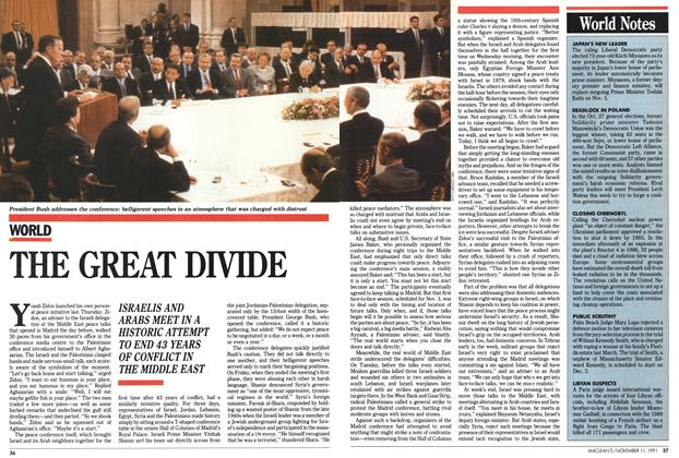 Article Preview: THE GREAT DIVIDE, November 1991 | Maclean's