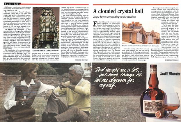 Article Preview: A clouded crystal ball, November 1991 | Maclean's