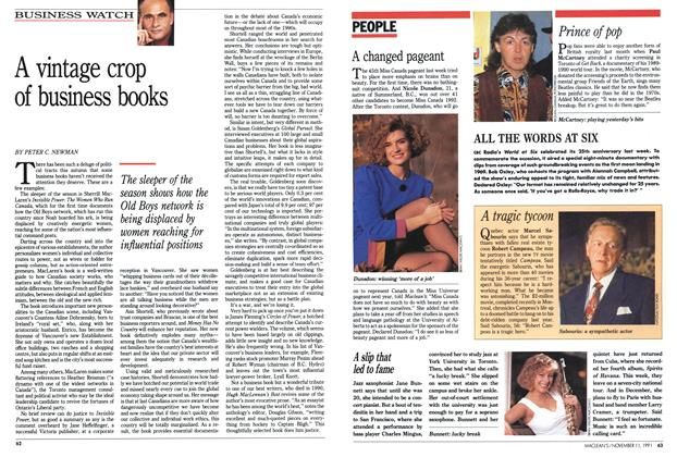 Article Preview: A vintage crop of business books, November 1991 | Maclean's