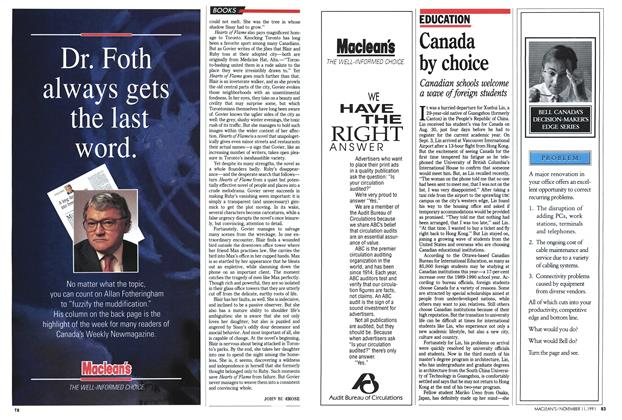 Article Preview: Canada by choice, November 1991 | Maclean's