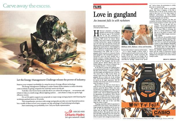 Article Preview: Love ín gangland, November 1991 | Maclean's