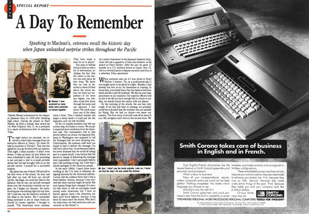 Article Preview: A Day To Remember, November 1991 | Maclean's