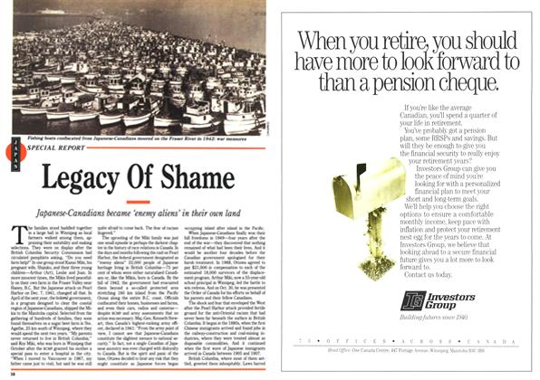 Article Preview: Legacy Of Shame, November 1991 | Maclean's
