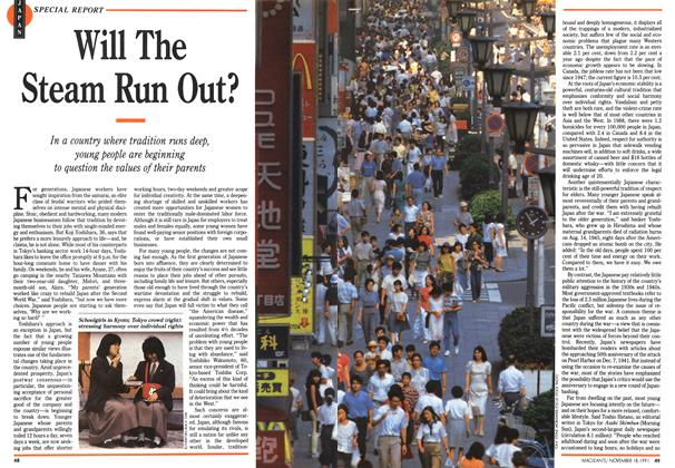 Article Preview: Will The Steam Run Out?, November 1991 | Maclean's