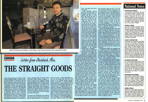 Article Preview: THE STRAIGHT GOODS, November 1991 | Maclean's
