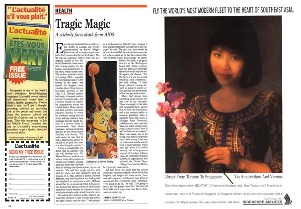 Article Preview: Tragic Magic, November 1991 | Maclean's