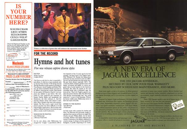Article Preview: Hymns and hot tunes, November 1991 | Maclean's