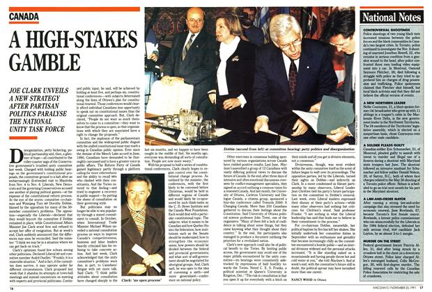 Article Preview: A HIGH-STAKES GAMBLE, November 1991 | Maclean's