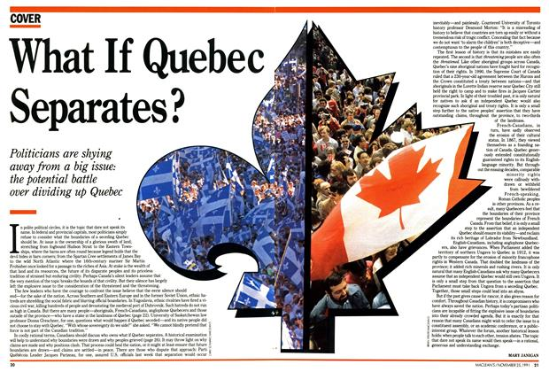 Article Preview: What If Quebec Separates?, November 1991 | Maclean's