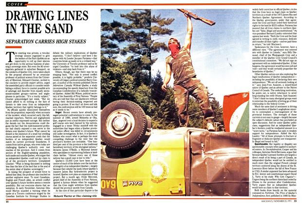 Article Preview: DRAWING LINES IN THE SAND, November 1991 | Maclean's