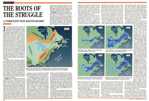 Article Preview: THE ROOTS OF THE STRUGGLE, November 1991 | Maclean's