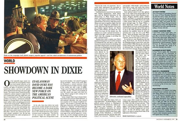 Article Preview: SHOWDOWN IN DIXIE, November 1991 | Maclean's