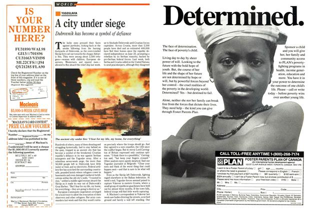 Article Preview: A city under siege, November 1991 | Maclean's