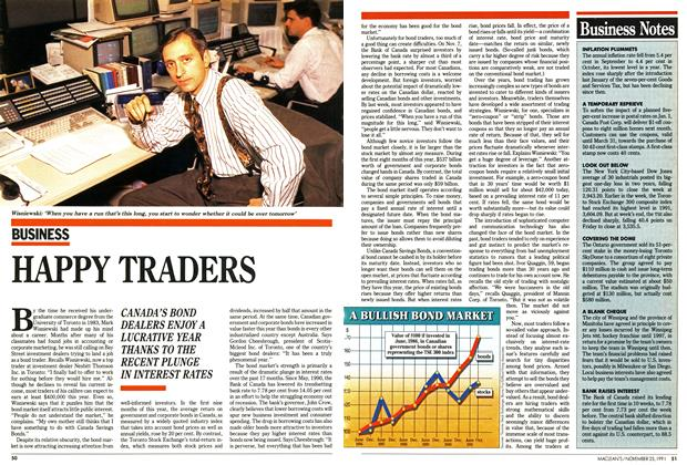 Article Preview: HAPPY TRADERS, November 1991 | Maclean's