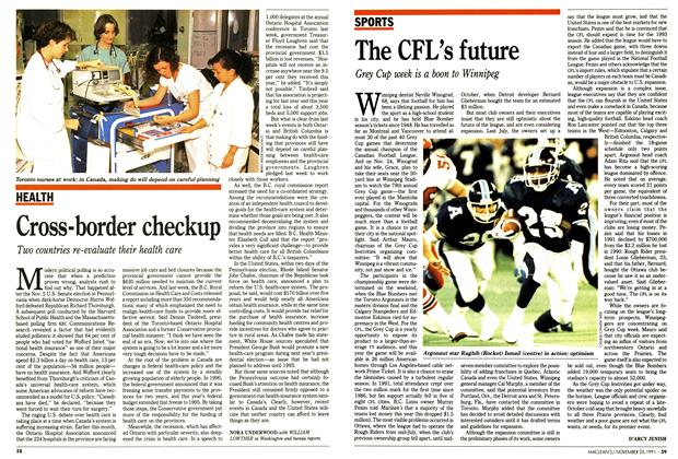 Article Preview: The CFL's future, November 1991 | Maclean's