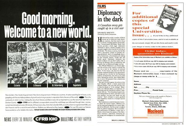 Article Preview: Diplomacy in the dark, November 1991 | Maclean's