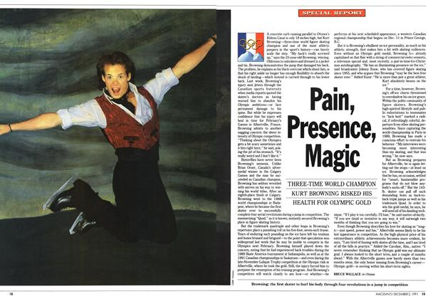 Article Preview: Pain, Presence, Magic, December 1991 | Maclean's