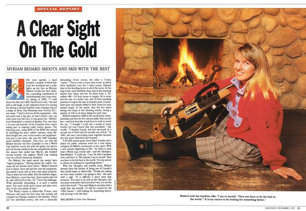 Article Preview: A Clear Sight On The Gold, December 1991 | Maclean's