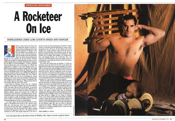 Article Preview: A Rocketeer On Ice, December 1991 | Maclean's