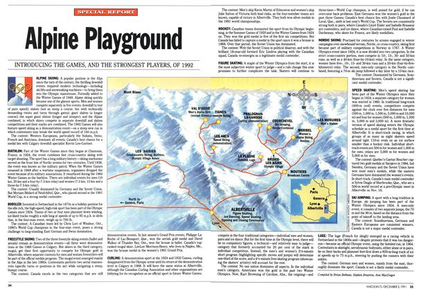Article Preview: Alpine Playground, December 1991 | Maclean's