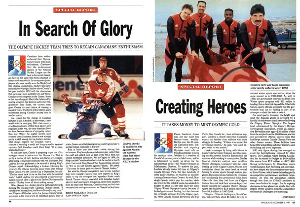 Article Preview: In Search Of Glory, December 1991 | Maclean's
