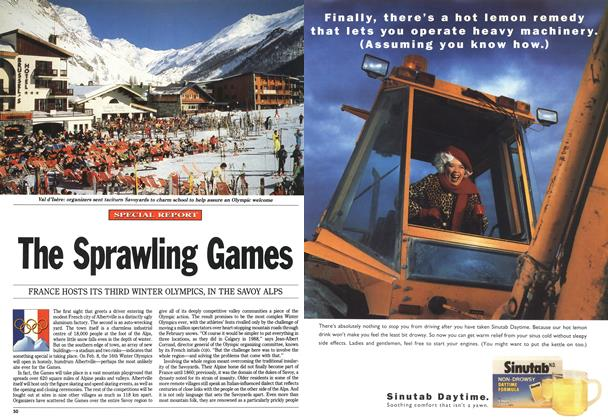 Article Preview: The Sprawling Games, December 1991 | Maclean's
