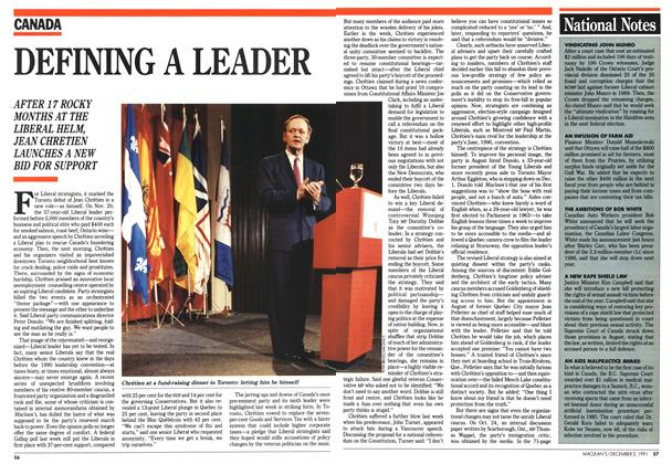 Article Preview: DEFINING A LEADER, December 1991 | Maclean's