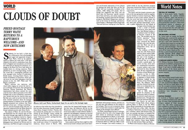 Article Preview: CLOUDS OF DOUBT, December 1991 | Maclean's