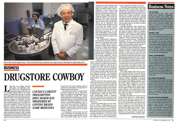 Article Preview: DRUGSTORE COWBOY, December 1991 | Maclean's