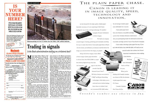 Article Preview: Trading in signals, December 1991 | Maclean's