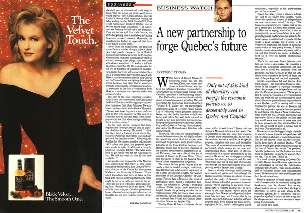 Article Preview: A new partnership to forge Quebec's future, December 1991 | Maclean's