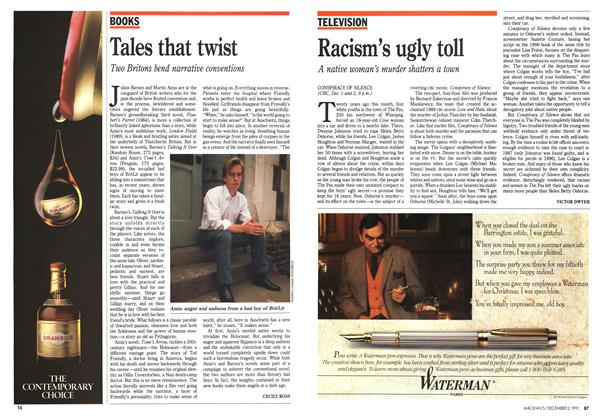 Article Preview: Racism's ugly toll, December 1991 | Maclean's