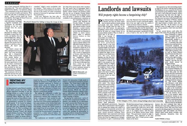 Article Preview: Landlords and lawsuits, December 1991 | Maclean's