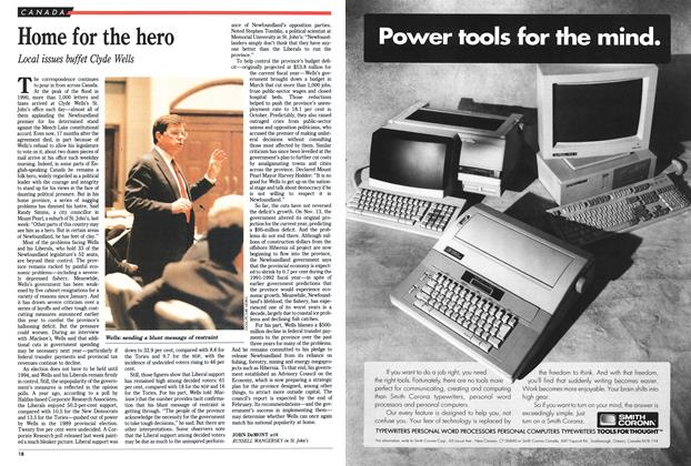 Article Preview: Home for the hero, December 1991 | Maclean's