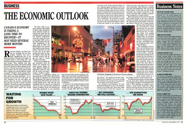 Article Preview: THE ECONOMIC OUTLOOK, December 1991 | Maclean's