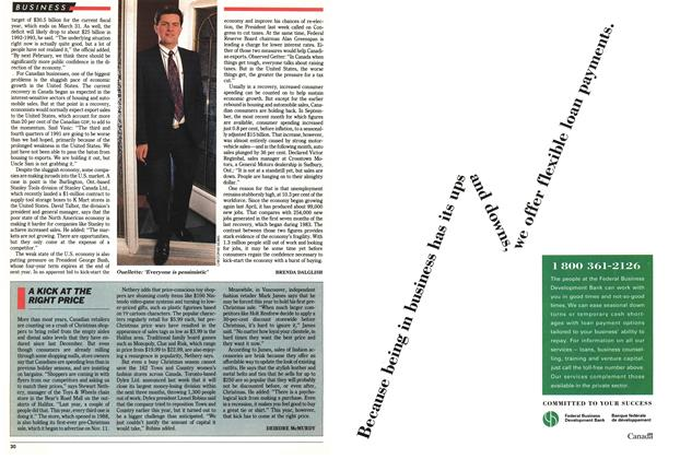 Article Preview: A KICK AT THE RIGHT PRICE, December 1991 | Maclean's