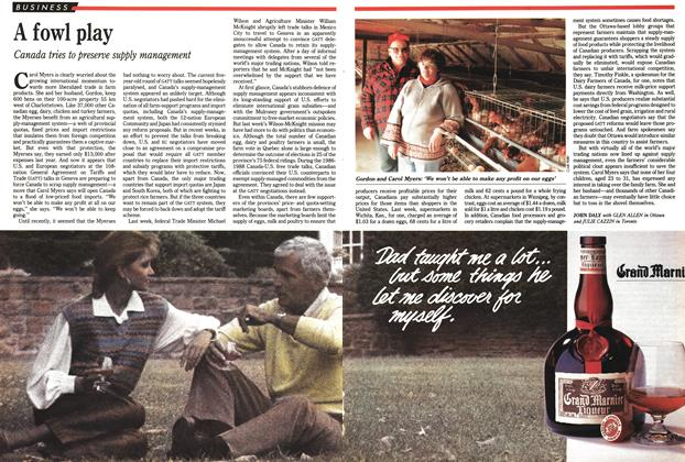 Article Preview: A fowl play, December 1991 | Maclean's